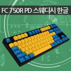 레오폴드 FC750R PD 스웨디시 블랙 한글 클리어(백축) - 미입고